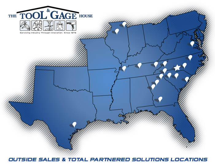 Tool & Gage House Locations Map